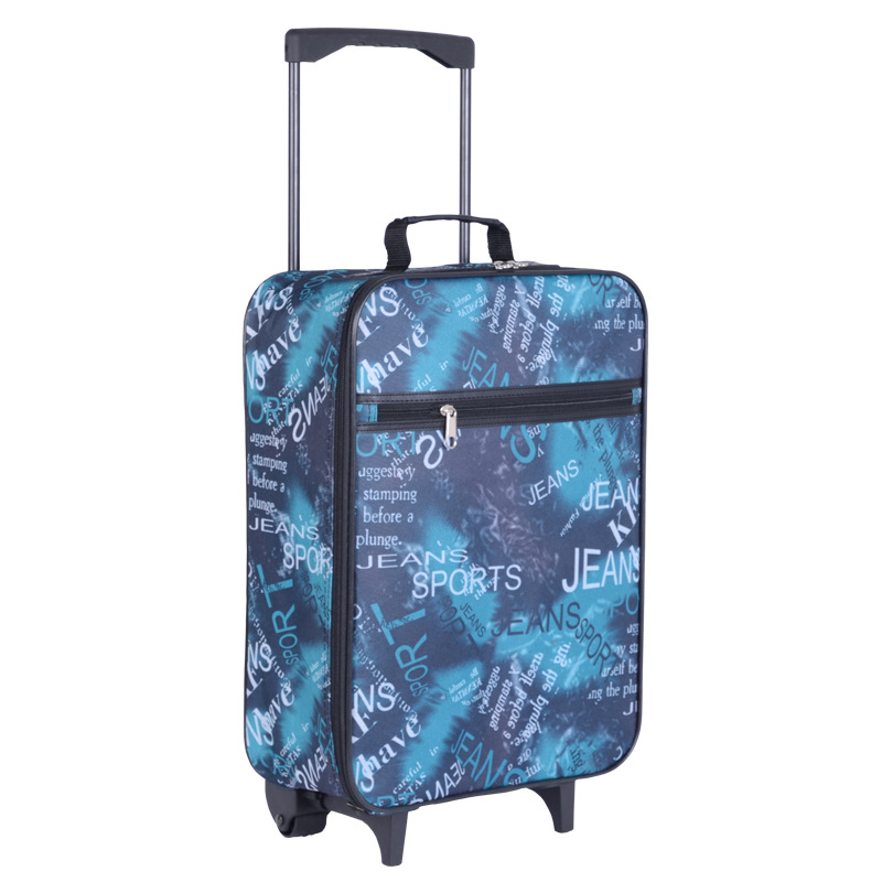 18 21 inches Fashion classic day and night Trolley suitcase luggage Pull Rod trunk traveller case