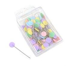 Галстук-бабочка, кнопки слива Форма швейная фурнитура в стиле пэчворк шпильки с цветочной брошью швейных сцепляющий 100 шт./упак