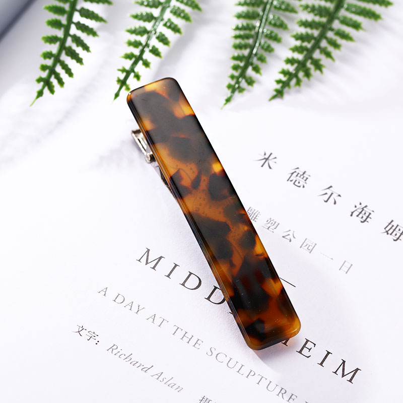 1PC New Women Japanese Acetate Long Colorful Barrettes Elegant Hair Clips Headbands Lady Metal Hairpins Fashion Hair Accessories