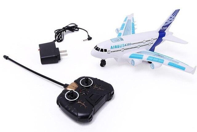 Зарядки дистанционного управления самолета аэробус airbus пространство электрическая модель игрушки легкая музыка