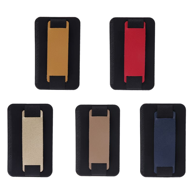 Lycra Leather Adhesive Sticker Back Cover Card Case Pouch Holder For Cell Phone