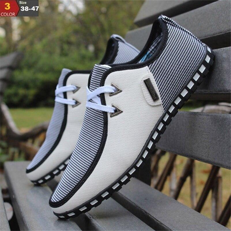 Moda conducción zapatos hombres deslizamiento en los holgazanes planos italianos zapatos hombres zapatos Casual Zapatillas Hombre tamaño 38-47