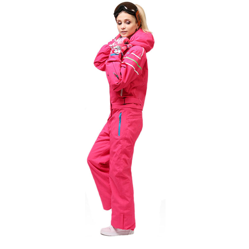 Winter outdoor new ladies snowboard suit windproof quick-drying warm jumpsuit ladies alpine skiing mountaineering sportswear цены