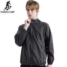 Pioneer Camp Jacket Men Summer Hooded Sunscreen Jackets Fashion Brand Clothing Veste Homme light AJK908028