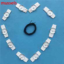 "Led Strips 3v Bulbs Diodes 32"" 65"" inch Tv Optical Lens Fliter Backlight w/ cable Double side Tape 20pcs total 2 bags/lot"