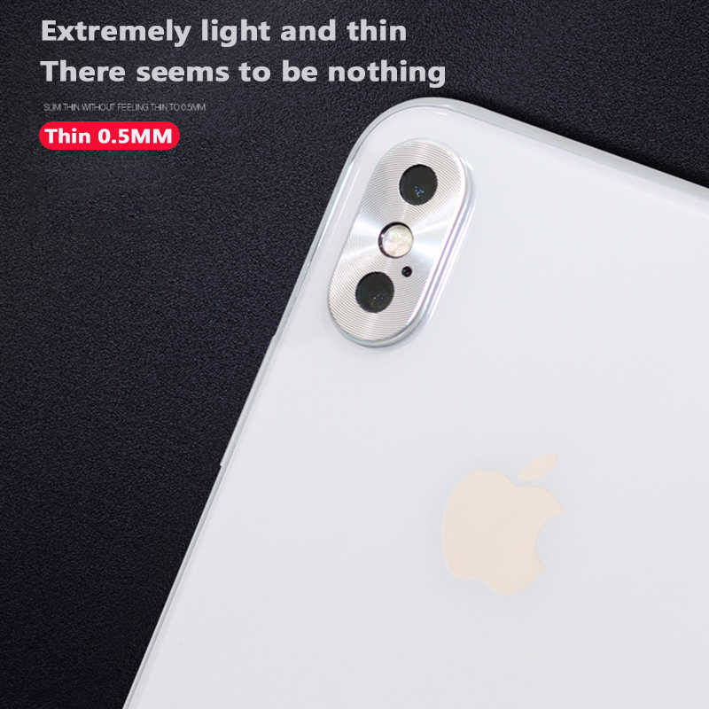 newest da482 b9391 XSDTS For iphone X Camera Lens Protector Case for Apple iPhone 10 Guard  Circle Metal Ring Bumper lens Protection Ring Cover