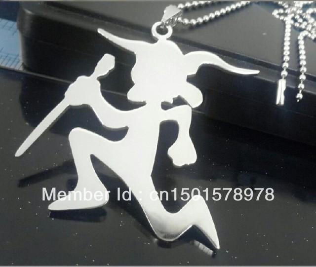 New design  Large 3'' Top quality silver  stainless steel princess hatchetman charm pendant free chain  ICP Juggalo jewelry