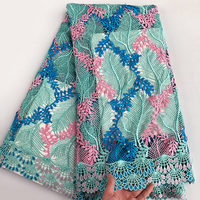 Soft 5 Yards Latest Beaded Guipure Lace Fabric 2018 High Quality African Cord Lace Very Nice