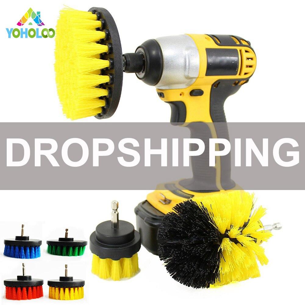 3 stücke Power Wäscher Pinsel Set für Bad Auto | Bohrer Wäscher Pinsel für Reinigung Akku-bohrschrauber Befestigung Kit Peeling pinsel