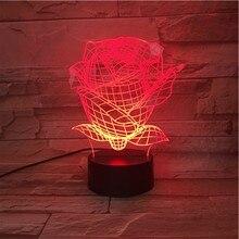все цены на Rose Led Night Light USB Touch Sensor RBG Floral Novelty Lighting Child Kids Baby Gift Gadget Flowers Table 3D Lamp Room Decor онлайн