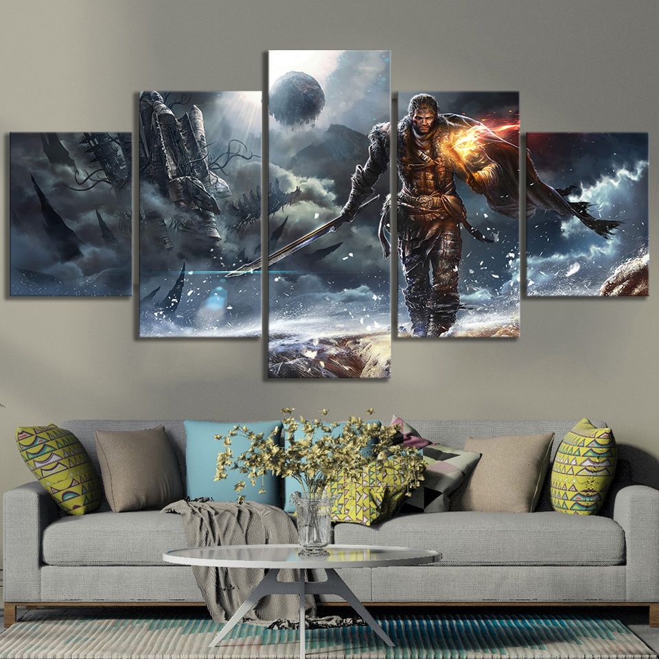 5 Panels Wall Decor Paintings Fade To Silence Video Games Art Canvas Oil Paintings Fantasy Wall Art for Home Decor 1