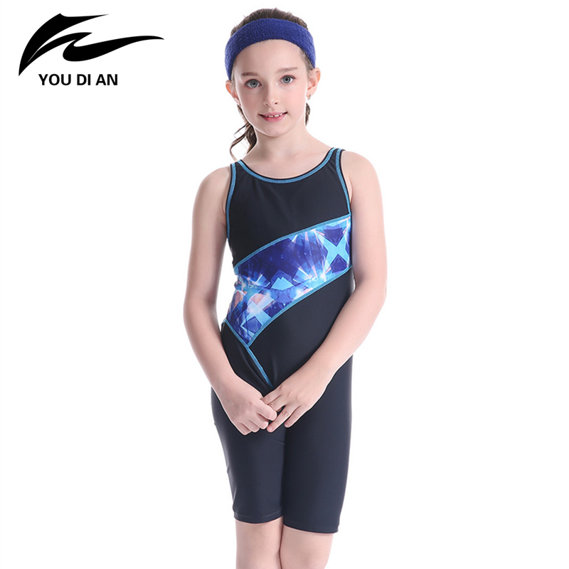 YOUDIAN 2017 New Prited Racing Suit Competition Swimsuits Girls Professional One Piece Children Swimsuit Beach Suits competition swimsuits girls professional swim patchwork swimsuit female swimwear open back high cut women swimming racing suit
