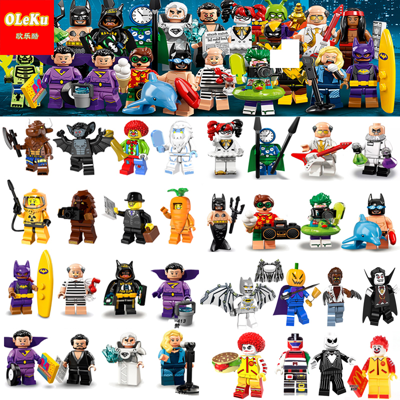 Unicorn 18 Harley Quinn Mermaid Batman Hugo Strange Robin Clock King Joker  Building Blocks Bricks Toys figures 71020