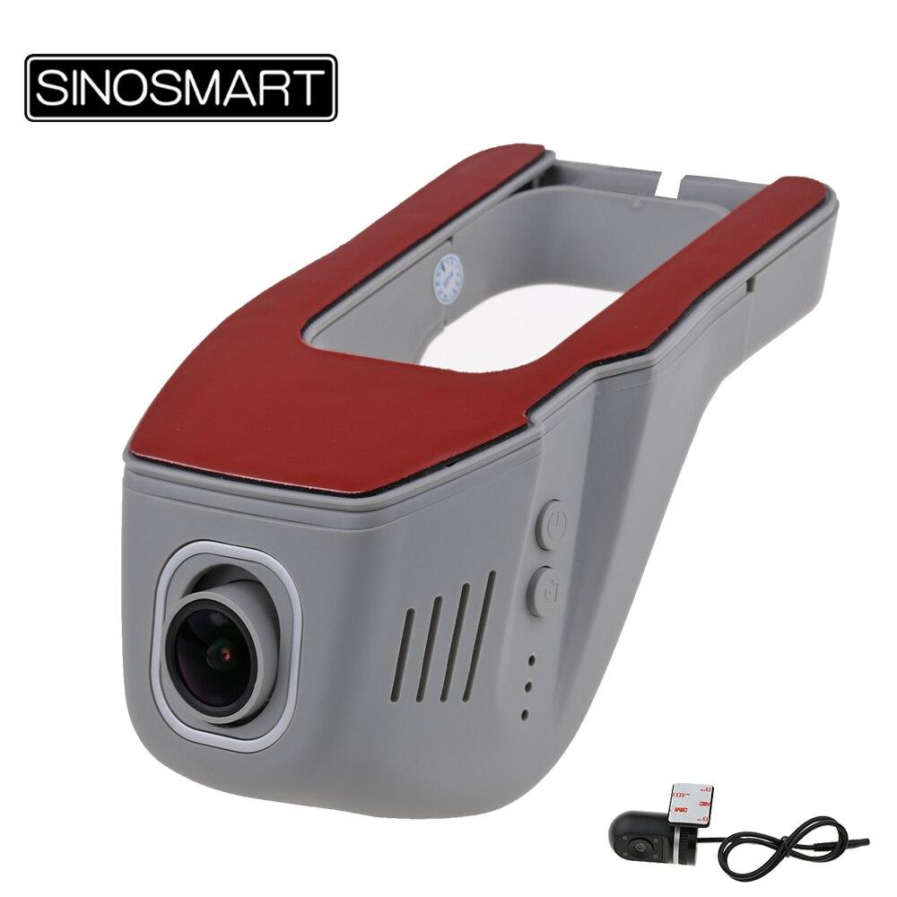 SINOSMART Novatek 96658 Universal Wifi DVR for Volkswagen Honda Mazda Mitsubishi Opel Hyundai Kia App Control