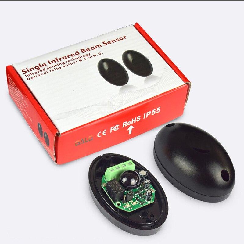 Waterproof Active Photoelectric Single Infrared Beam Infrared Sensor Barrier Detector For Gate Door Window Burglar Alarm System
