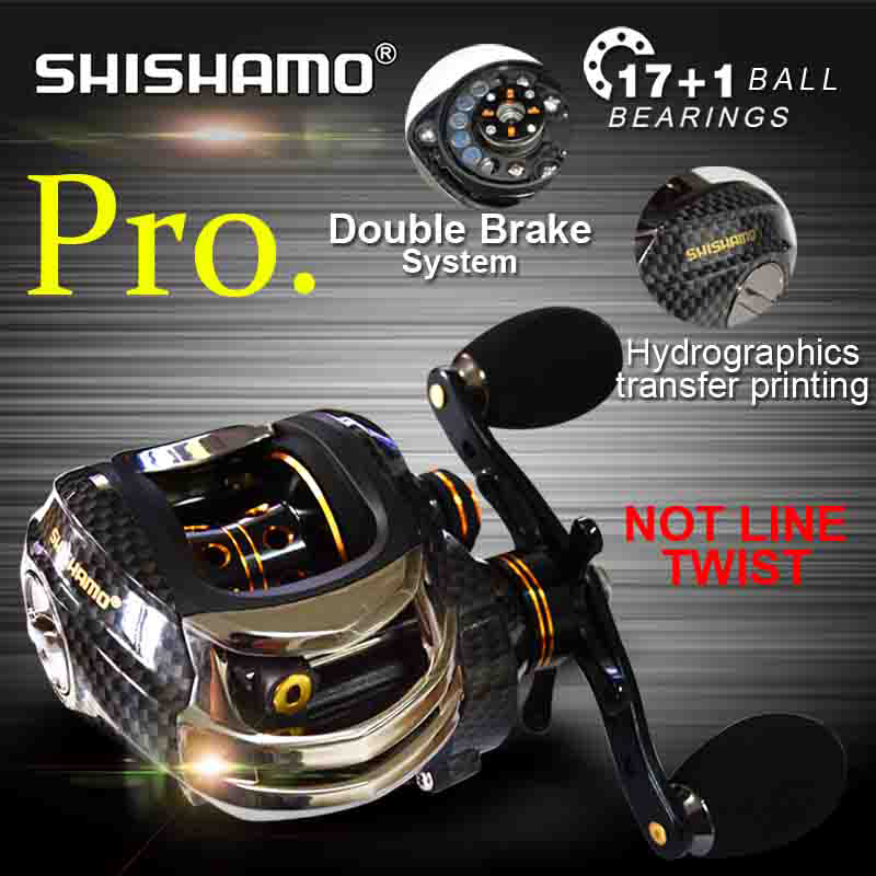 Korean Technology SHISHAMO LB200 Baitcasting Reel 18 Ball Bearings Carp Fishing Bass Fishing Left Handed Right