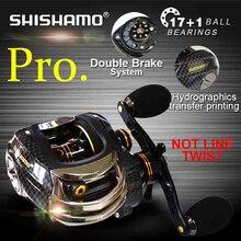 Tecnología coreana SHISHAMO LB200 Baitcasting Carrete 18 Rodamientos de Bolas Pesca de La Carpa Pesca de la Lubina Zurdo Mano Derecha del Bastidor de Cebo