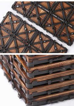 32 36 40 44 48 ชิ้นกลางแจ้ง,ชั้น decking,Carbonized ไม้
