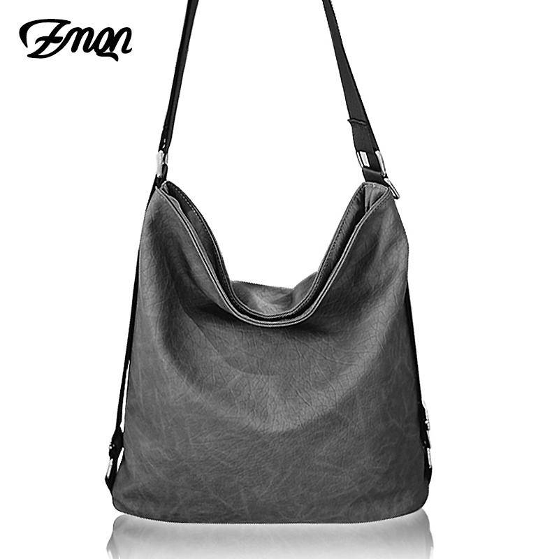ZMQN Casual Shoulder Crossbody Bags For Women 2019 Black Soft PU Leather Bags Ladies Big Tote Messenger Bags Bolsa Feminina A517