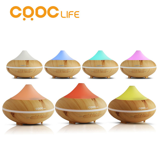 CRDC LIFE 200ml Colorful Ultrasonic Humidifier Essential Oil Diffuser Aroma Lamp Aromatherapy Electric Aroma Diffuser Mist Maker