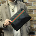 Tidog Korean men's fashion handbag stripe Metrosexual bag envelope Clutch bag