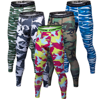Mens Joggers Tights Fitness Pants Camouflage Compr ...