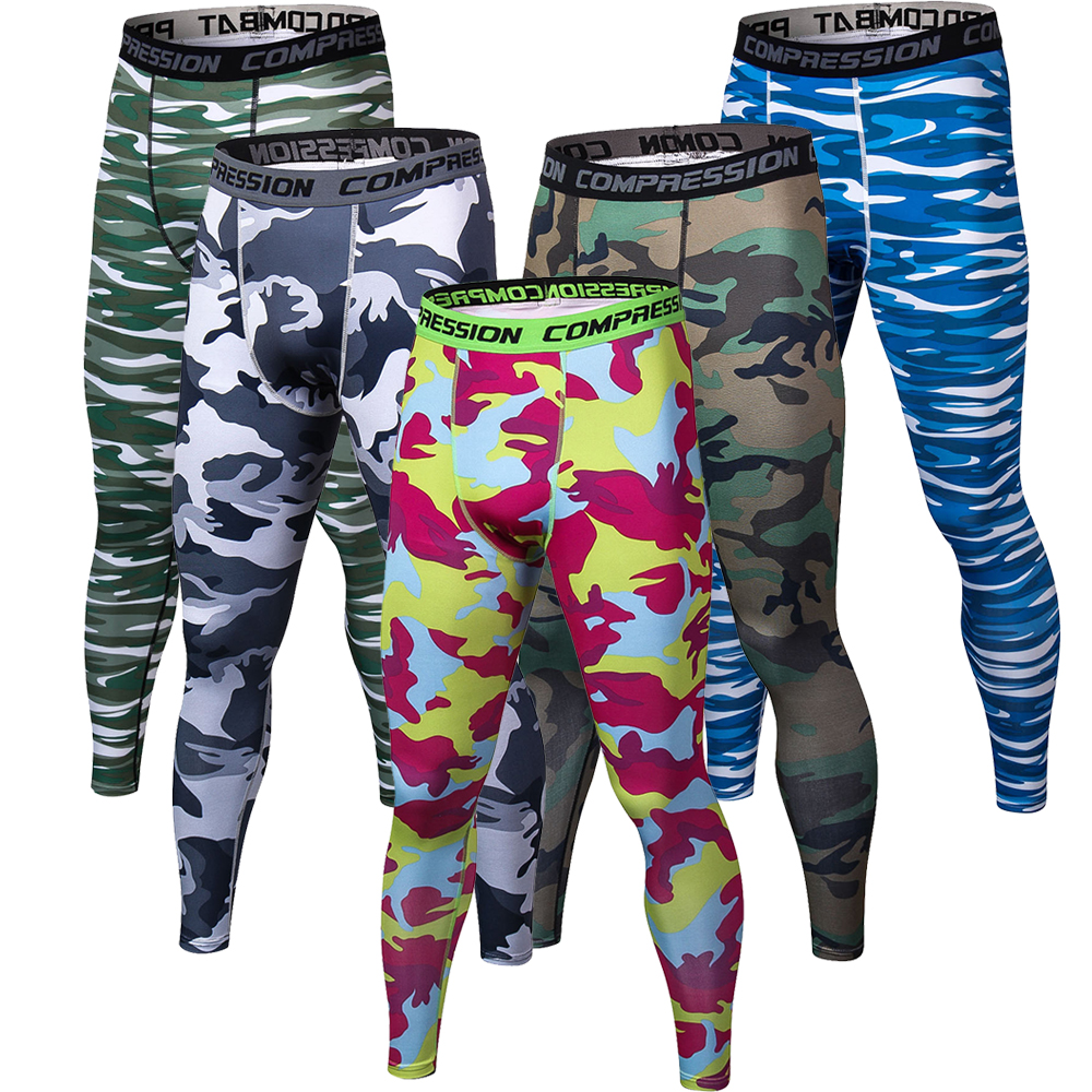 Mens Joggers Tights Fitness Pants Camouflage Compression Pants Men Camo Tights Leggings Trousers Brand Clothing