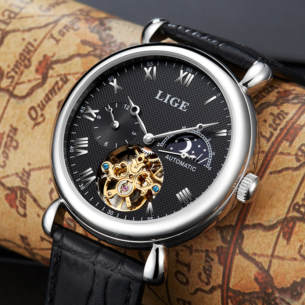 Mens Watches Top Brand Luxury LIGE 2017 Men Watch Sport Tourbillon Automatic Mechanical Leather Wristwatch relogio masculino mens watches top brand luxury lige 2017 men watch sport tourbillon automatic mechanical leather wristwatch relogio masculino