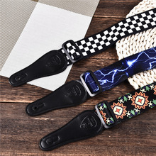 Printed Acoustic Guitar Strap Guitar Accessories New Colorful Polyester For Folk Bass Electric Guitar Strap