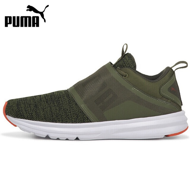 5bf1ccafd405af Original New Arrival 2018 PUMA Enzo Strap Knit Men s Running Shoes Sneakers