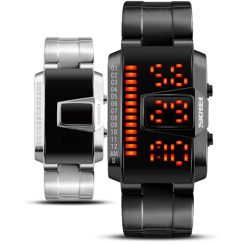 Geek Creative Skmei Watch Men Women G Sport Digital Quartz Shock Watch Black Steel Wristwatches Clock Relogio Masculino De Luxo цена