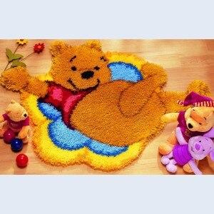 Winnie The Pooh Rug Kit DIY Unfinished Crocheting Yarn Mat Latch Hook Rug  Kit Floor Mat