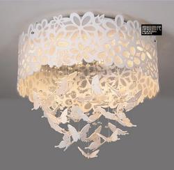 A1 biała piękna i elegancka lampka do sypialni ciepły romantyczny lampa sufitowa LED okrągła lampa kryształowa lampa ogrodowa sala weselna FG693|round crystal lamp|ceiling lampceiling lamp led -