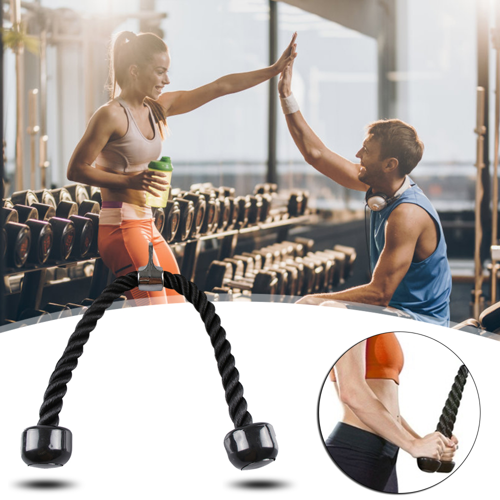 Resistance Bands Biceps Ropes Training abdominal cable Pull Rope Double Head Fitness Body Building Gym Tension Rope in Resistance Bands from Sports Entertainment
