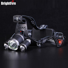 Professinal CREE Waterproof XML T6 and 2 XPE LED Headlamp 4 Modes 6000LM Head Lamp Head Light with EU/US/AU/UK Charger