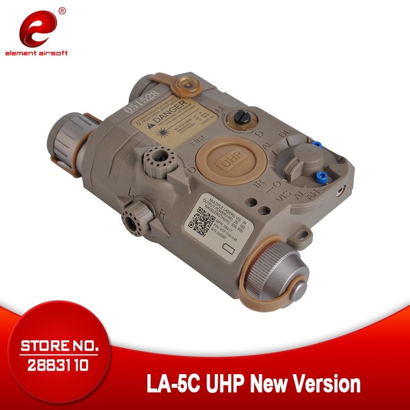 Airsoft Element Softair LA 5C PEQ UHP New Version Tactical Laser Flashlight Green Laser IR Light