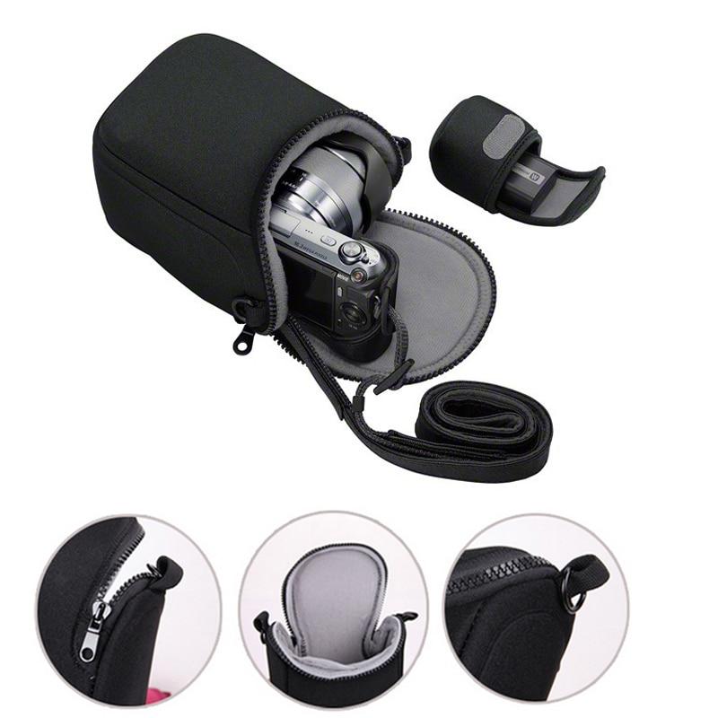 Camera Cover Case Bag for Sony A5100 A5000 A6000 A6300 A6500 RX1R NEX-5T NEX-5N NEX-5R NEX-6 NEX-7 NEX-F3 3N With Strap