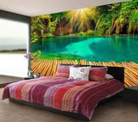 Home Decoration Wallpaper For Walls Roll Sunshine Lakes Landing Stage 3d Murals Wallpaper For Living Room