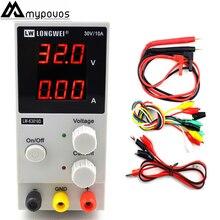 LW-K3010D мини Регулируемый цифровой источник питания постоянного тока 30V10A импульсный источник питания 110 В-220 В для ноутбука телефон ремонт