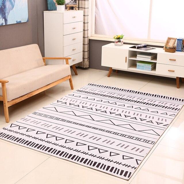 Nordischen Stil Geometrische Muster Teppich, Wohnzimmer Teppich, Rechteck  Bodenmatte, Pastoralen Dekoration Bodenmatte