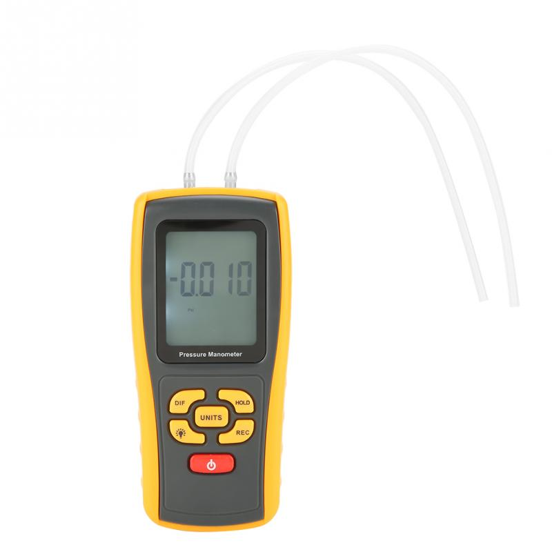 GM520 Digital LCD Display Pressure Manometer 150kPa Pressure Gauge 11 units Testing Tools
