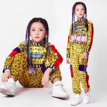 New Children's Costumes Girls Street Dance Jazz Dance Costumes Children Hip Hop Dance Practice Clothes Tide Long Sleeve Autumn(China)