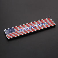 New ABS American USA United States Flag Rear Sticker For Car Truck Emblem Badge
