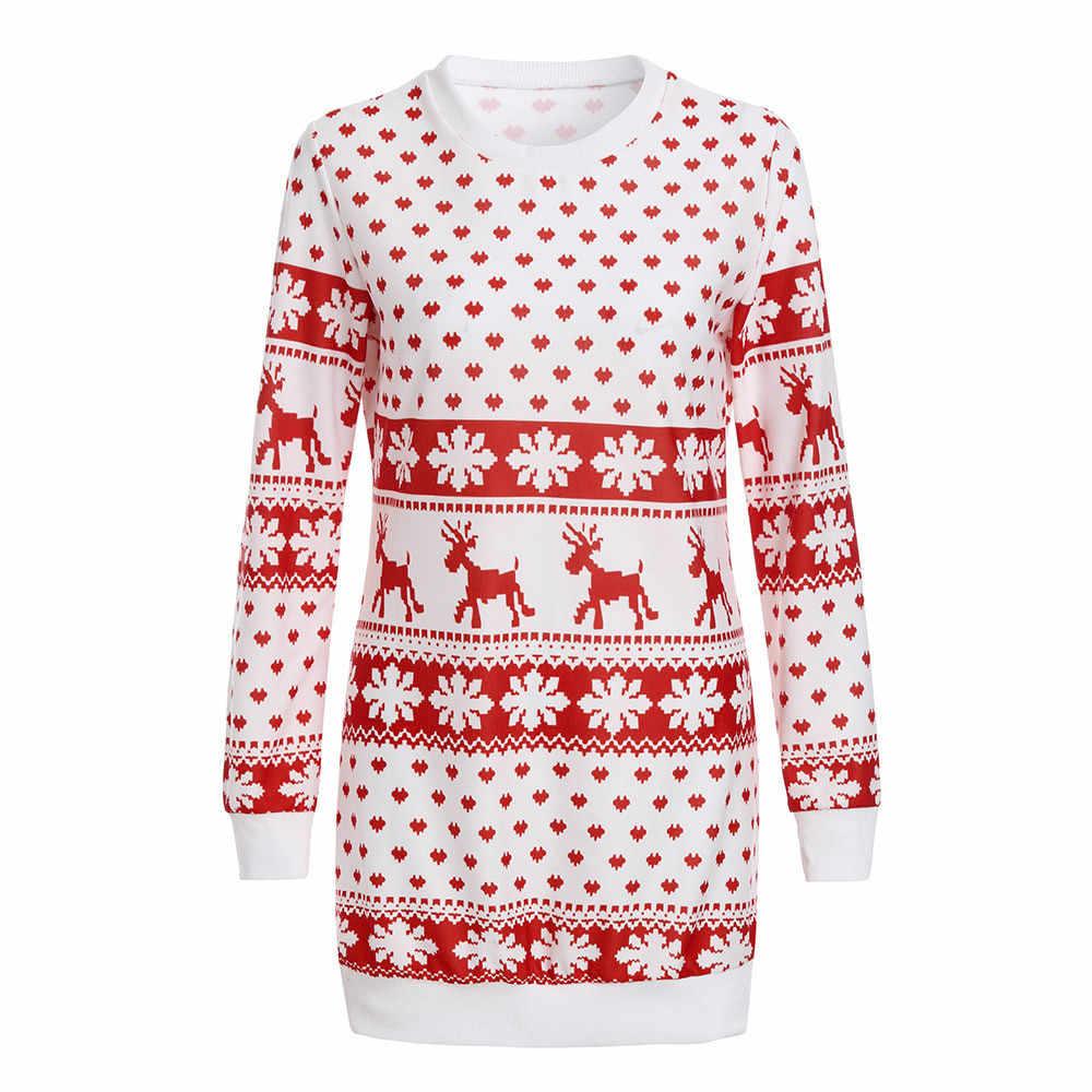 Sunfree Kerst Belangrijkste Producten Vrouwen Xmas Kerst Print Lange Mouwen Blouse Tops Kerstman Slanke Hoodie Moeite Waard 3L45