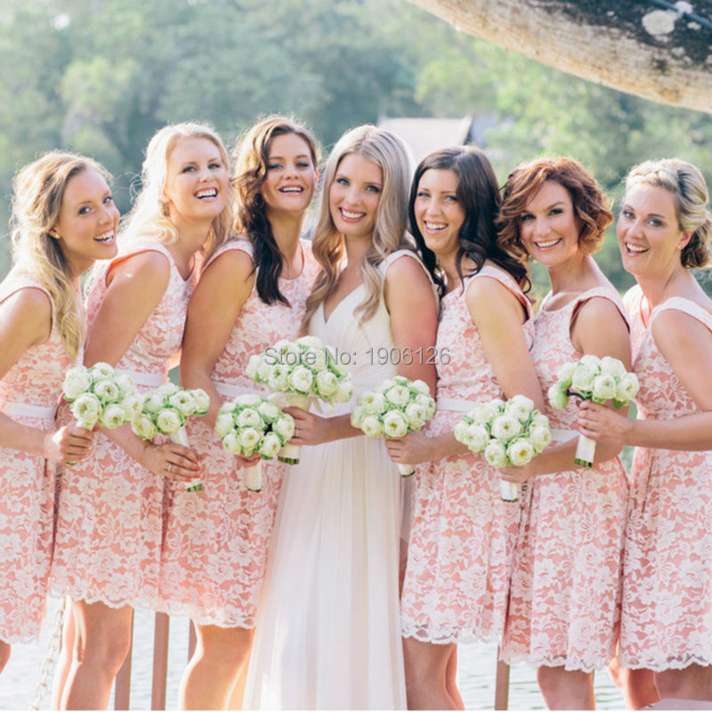 Compare Prices on Pink Lace Bridesmaid Dress- Online Shopping/Buy ...