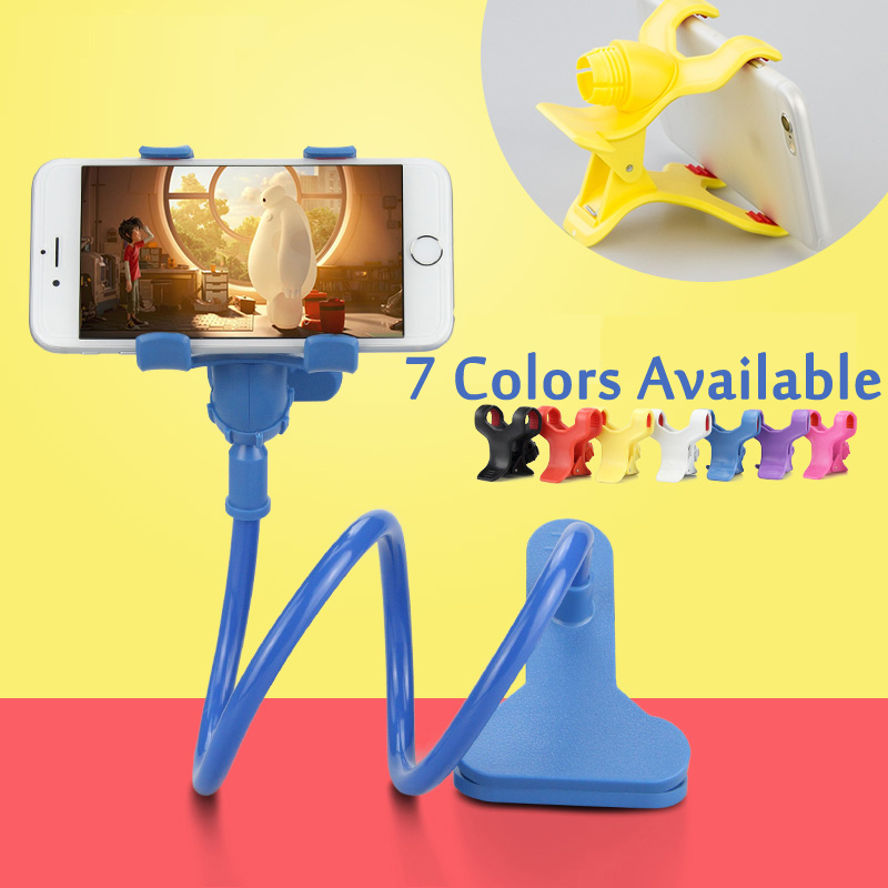 Esamday 360 Rotating Flexible lazy bed desktop tablet car Long Arm holder stand selfie mount bracket for iPhone samsung XiaoMi