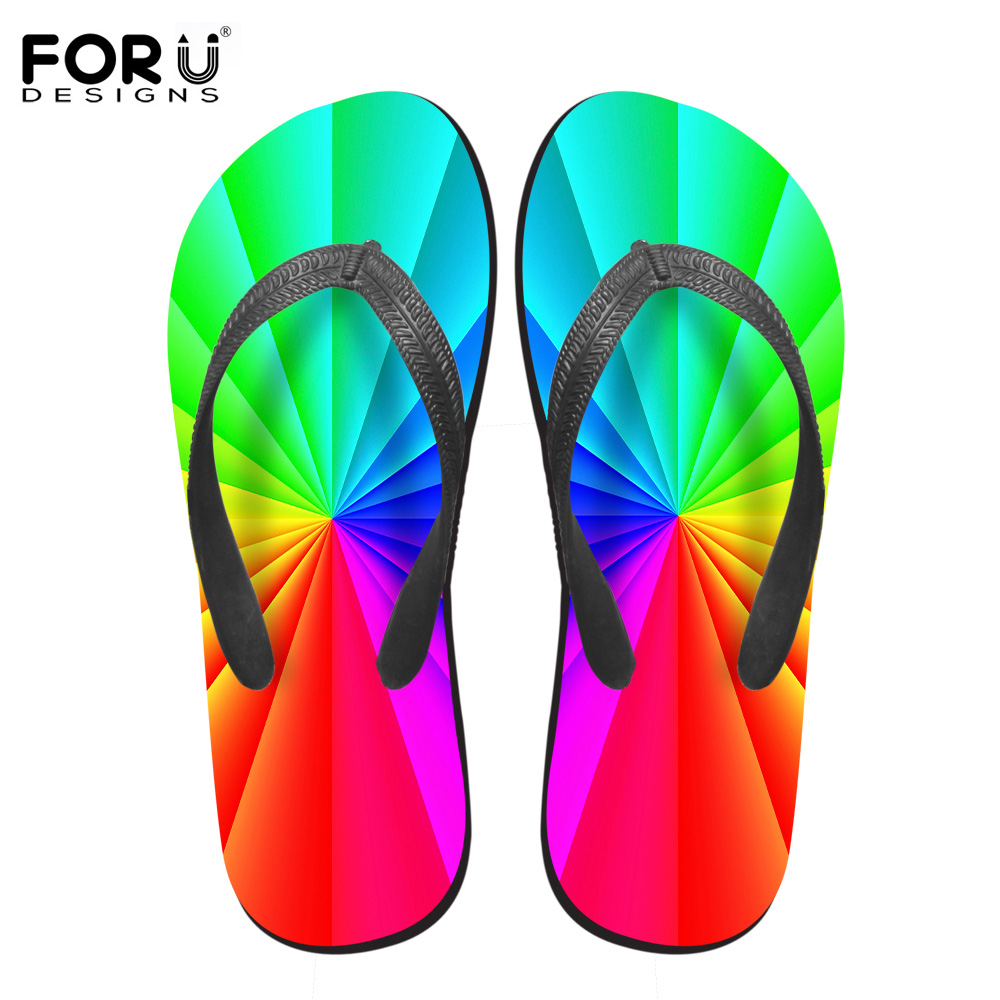 FORUDESIGNS 3D Candy Color Women Casual Flip Flops Summer House and Beach Non-slip Flipflops for Woman Ladies Soft Slipper Mujer free shipping candy color women garden shoes breathable women beach shoes hsa21