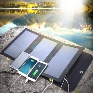 Image 5 - ALLPOWERS powerbank na energię słoneczną 5V 21W szybkie ładowanie ładowarka solarna dla iPhone 6 6s 7 7plus 8 X Samsung Xiaomi Huaming Sony HTC LG