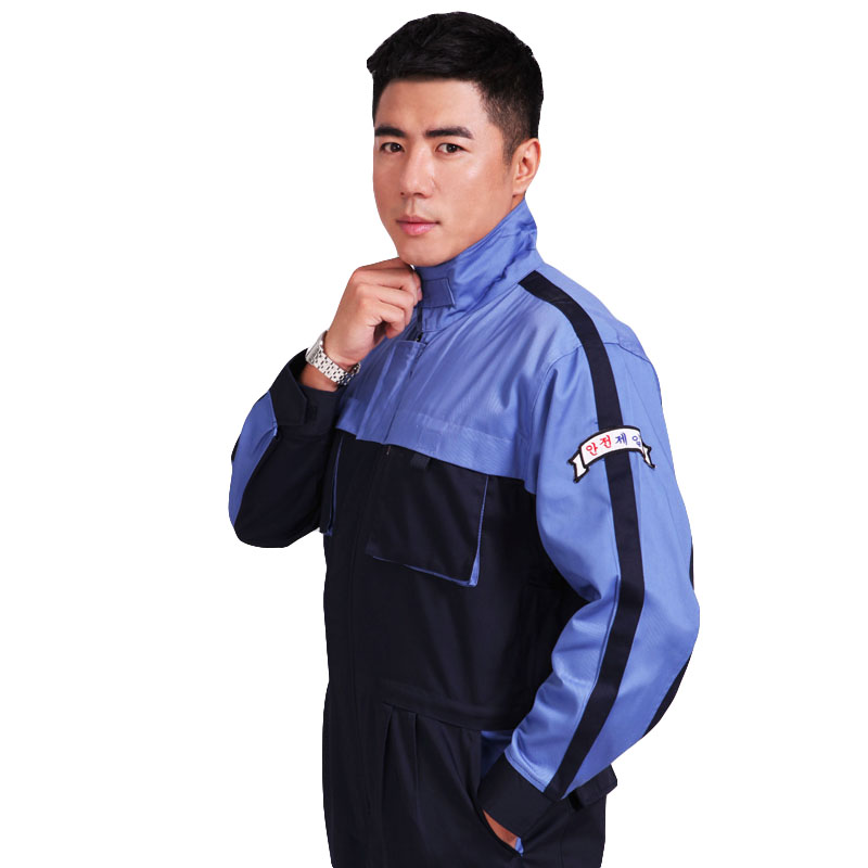 Men Work Clothing Long Sleeve Spliced Color Coveralls Factory Working Uniforms Dust-proof Painting Auto Repair Workwear Overalls mens work clothing reflective coveralls windproof road safety maritime clothing protective clothes uniform workwear plus size