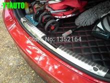 Автоматическая задняя интерьер бампер защитник Задний багажник Накладка для Mazda 6 2014 2015, нержавеющая сталь